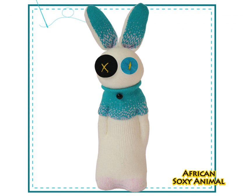 Art & Craft Sock Puppet DIY Kits - African Soxy Animal - Sock Bunny Soft Toy Game-based Educational Toy
