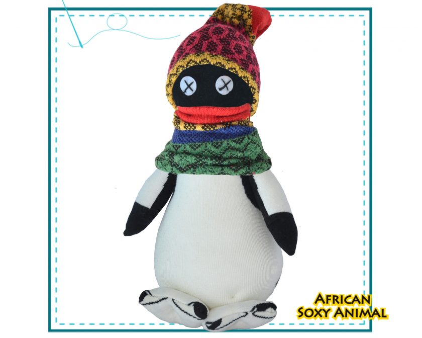 Art & Craft Sock Puppet DIY Kit - African Soxy Animal - Sock Penguin Soft Toy Game-based Educational Toy