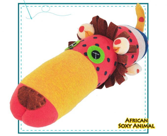 african soxy animal - art and craft handmade Lion soft toy - sock lion