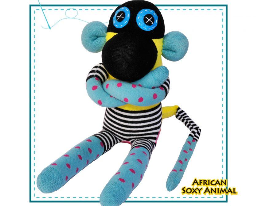 African Soxy Animal Art & Craft handmade soft toy sock monkey