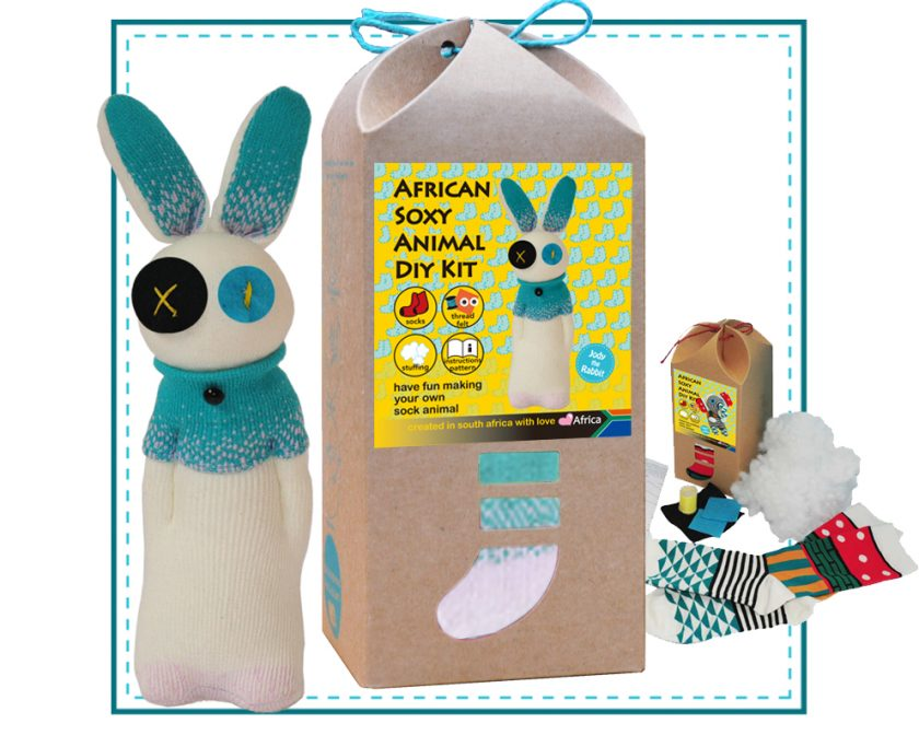 Art & Craft Sock Puppet DIY Kits - African Soxy Animal - Sock Bunny Soft Toy - Game-based Educational Toy