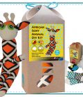 Art & Craft Sock Puppet DIY Kit - African Soxy Animal - Sock Giraffe Soft Toy Game-based Educational Toy