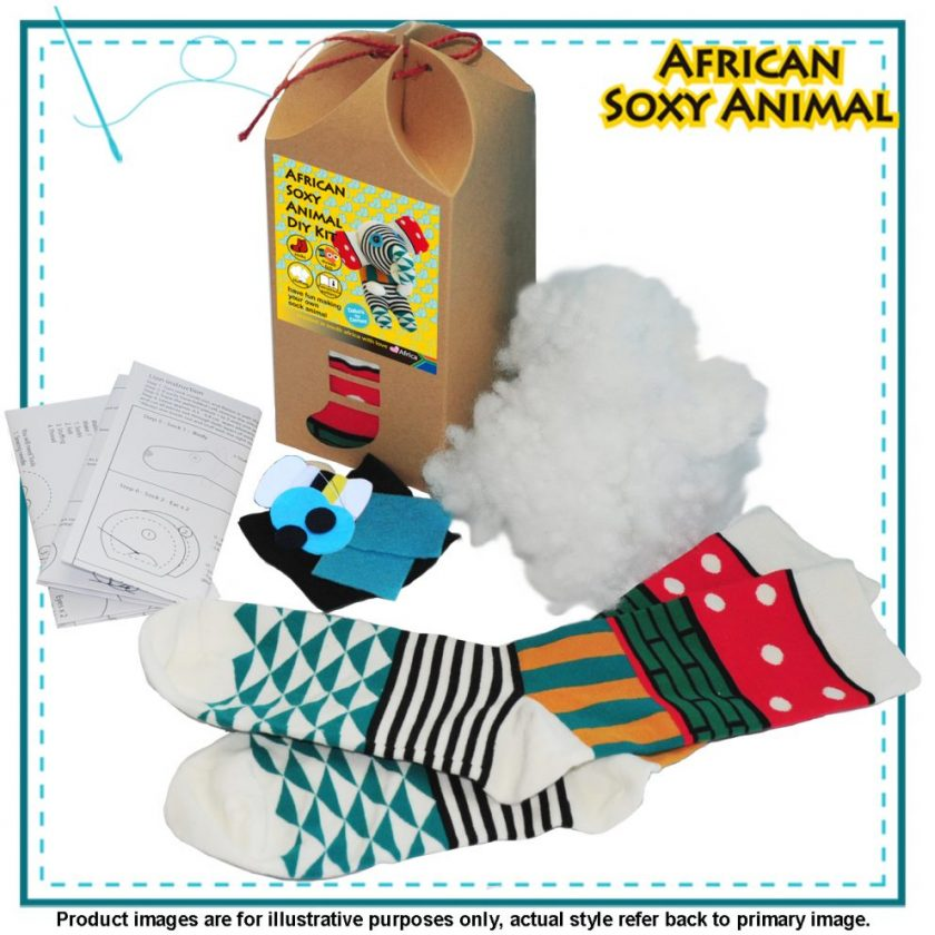 Art & Craft Sock Puppet DIY Kits - African Soxy Animal - Sock Animal Soft Toy - Game-based Educational Toy