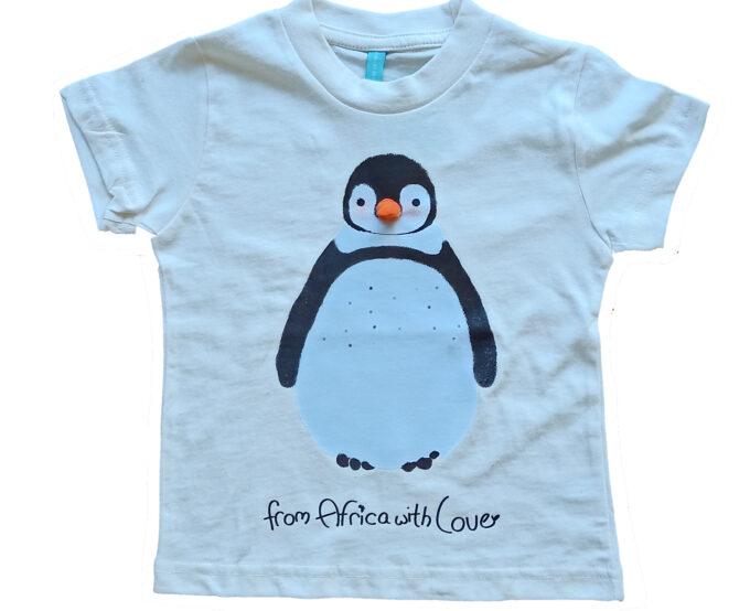 African-Soxy-Animal-100%Combed-Cotton-Handmade-Children's-T-shirt-Penguin